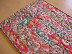 Table Runner In Spring Colors by bungalowquilts on Etsy, $35.00