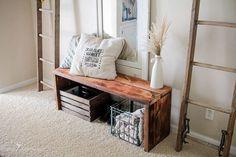 Rustic and Easy DIY bench idea