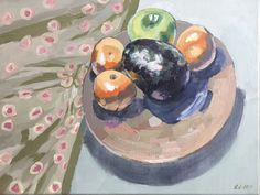 Still Life with Avocado – oil on canvas – x The Quiet Miracle, Michael Krief Gallery, Solana Beach, California – 12 June to 3 July 2019 – Lizza Littlewort Solana Beach, Avocado Oil, Still Life, Oil On Canvas, June, African, California, Gallery, Artist