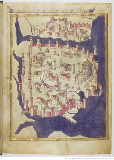 Constantinopoli - Claudius Ptolomaeus , Cosmographia , Jacobus Angelus interpres Auteur du texte: Claudius Ptolomaeus. Auteur : Jacobus Angelus. Traducteur 1451-1500