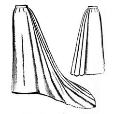 Amazon Drygoods - 1892 Umbrella Skirt with Train, $15.50 (http://www.amazondrygoods.com/products/1892-umbrella-skirt-with-train.html/)