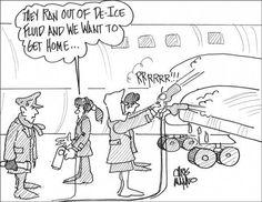 "cartoons Chris Manno - Aviation Cartoons in book ""Good landing"""