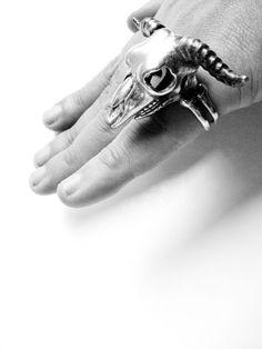 Taurus The Skull Bull Zodiac Ring | Guruwan.com