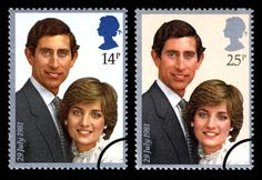 1981 Great Britain Charles and Diana Royal Wedding Set Fine Mint