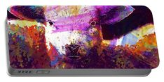 9212 Portable Battery Charger featuring the digital art Lamb Nature Animal Spring Meadow by PixBreak Art