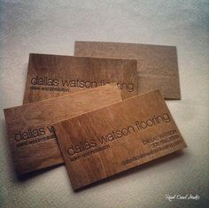 Wood business cards with letterpress printing, by www.realcardstudio.com