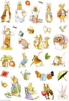 Album Archive - LÁMINAS - Beatrix Potter for card making, scrapbooking Peter Rabbit Party, Peter Rabbit Birthday, Coelho Peter, Beatrix Potter Illustrations, Beatrice Potter, Peter Rabbit And Friends, Illustration Noel, Rabbit Baby, Paper Dolls