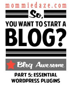 blogging part want start