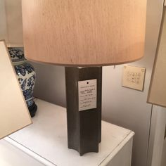 Anna Table Lamp, Taupe Fax Snakeskin. SKU 01300070. Gracious Home, $443.