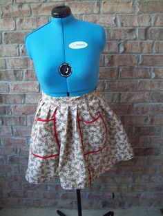 Adorable retro look Sock Monkey Waist Apron with red by BeaSewn, $26.50