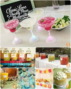 Cheers: DIY Margarita Bar   this has to happen at some event in my life. not sure which one soooo i'm pinning it here