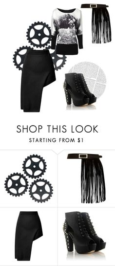 """monochrome day"" by stella-de-luna-fashion ❤ liked on Polyvore featuring River Island, Opening Ceremony and Jane Norman"
