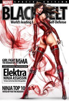 Elektra Ninja Assassin Black Belt Magazine