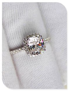 Wedding rings: I really hope he knows to make sure I have my nails done because this ring demands it!