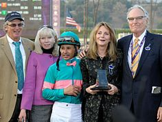 Zenyatta's connections Owners Jerry and Ann Moss, Trainer John Shirreffs, Horse Manager Dottie Ingordo Shirreffs, Jockey Mike Smith