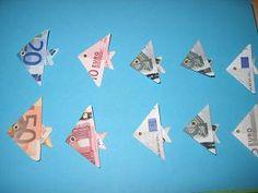 Die Bastel-Elfe, alles rund ums Basteln - Fische aus Geldscheinen falten