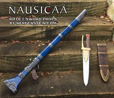 nausicaa-rifle-sword-cosplay-prop-weapons-by-nerfenstein   Nausicaa prop commissions  http://girlygamer.com.au/2015/01/foamidable-nausicaa-rifle-sword-and-scabbard-props/