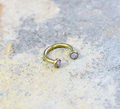 Lip by Purityjewel Cartilage Ring, Daith Piercing, Tragus, Piercings, Buy All The Things, Nipple Rings, Hoop, Opal, Jewelery