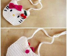 Hello Kitty Crochet Bag or Wallet