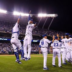 All the way up for a #Royals WIN!