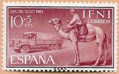 Sello Ifni de 10+5  céntimos, Día del Sello, 1961 - Portal Fuenterrebollo