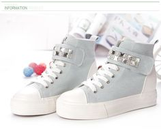 wholesale New fashion high top diamond velcro sneakers RB-3697