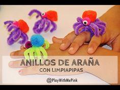 ✿ ANILLOS DE ARAÑA CON LIMPIAPIPAS ✿ PIPE CLEANER SPIDER RINGS - YouTube