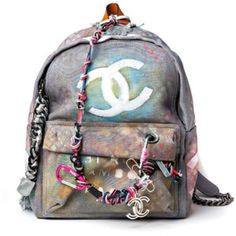 Chanel Unveils $3,400 Canvas Graffiti Backpack #Chanel #Backpack #Graffiti