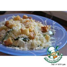 Салат из ирландского паба.       Сухарики(подсушенные, с паприкой)     Капуста пекинская     Огурец(свежие)     Сыр твердый     Масло растительное