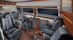 The Business Class Luxury Mercedes Sprinter Van Is Designed To Be Perfect Mobile Office For Executives