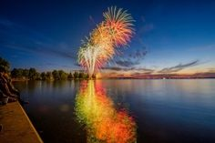Cannon Fireworks Drive You Crazy | firework fireworks night summer lake water canada day 4th of july Alan ...