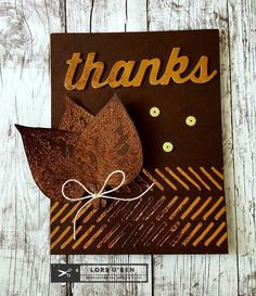 Autumn Thanks with Therm O Web Deco Foil
