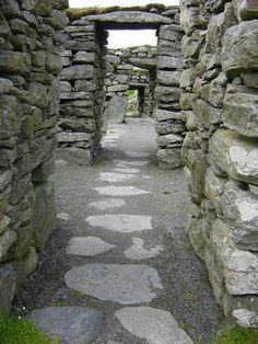 Corridore of stone, Lewis island, Hebrids, Scotland Copyright: Daniel Prochazka
