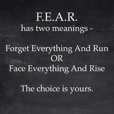 Fear has two meaniings