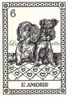 Osvaldo Menegazzi Dog Tarot Set of 4 Fortune Telling Cards ... in my shop now!