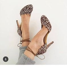 Guillermina combines classy style & luxury with these fiery animal print stilettos.  The gorgeously simple strap gives a glamorous appeal.  Crafted from textured leather with a cut-out detail, featuring a round closed toe and wrap ankle strap closure.