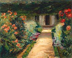 Max Liebermann, Der Nutzgarten nach Nordosten - Blumenstauden, 1916