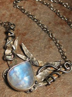 Handmade Moonstone and Sterling Pendent