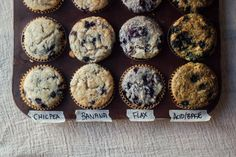 labeled muffin tin