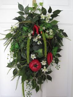 TOMATO GARDEN Tomatoes Peppers Country Kitchen Door by funflorals, $80.00