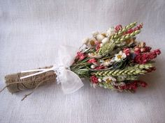Country dried flower wedding bouquet shabby chic wedding rustic summer pastel wedding dried flowers ,burlap and lace wedding , farm wedding