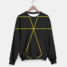 black and gold sweater , Live Heroes Gold Sweater, Playing Dress Up, Live, Stylish, Sweatshirts, Sweaters, Jackets, Black, Dresses