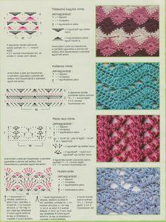innovart crochet: Let's practice . Crochet Stitches Chart, Crochet Diagram, Crochet Motif, Knitting Stitches, Crochet Designs, Knitting Patterns, Crochet Patterns, Crochet Books, Love Crochet