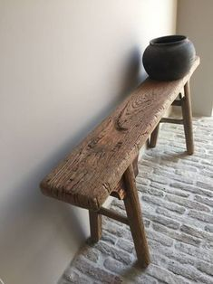 Robust bench, The most beautiful webshop in the Netherlands with the most diverse home accessories for the rural tough, sober and robust living rooms. Cob House Plans, Driftwood Furniture, Rustic Bench, Reclaimed Wood Benches, Deco Nature, Rustic Home Design, Old Chairs, Wooden Stools, Bungalows