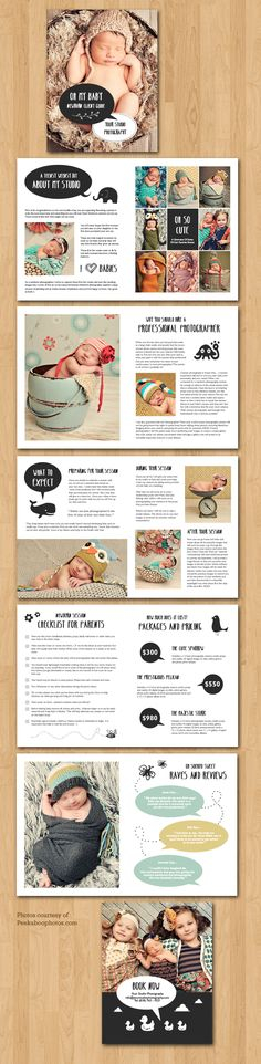 Newborn Client Session Marketing Magazine Template For Photographers