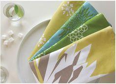 Pretty Spring table linens