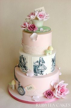 Alice In Wonderland Wedding Cakes | Alice in Wonderland Wedding Cake | Flickr - Photo Sharing!