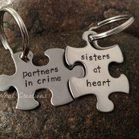 Puzzle piece key chain!:)