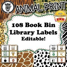 108x Book Bin / Library Labels - Editable!These labels would be great to help you maintain a well organized library. Help your students know where to look for books or where to return them when they are done reading them. This set contains 108 different library / book labels.