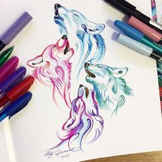 Amazing Wolf Wallpaper Here are the best screen murals you can use on your phone. Cute Drawings, Animal Drawings, Tattoo Drawings, Wolf Artwork, Wolf Tattoo Design, Tattoo Designs, Tattoo Ideas, Arte Sketchbook, Wolf Wallpaper